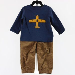 Little Me Boys 2-Piece Outfit Set, 3T, Brown Multi